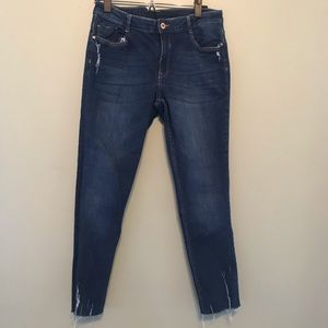H&M Divided Distressed Ankle Skinny Jeans Size 12